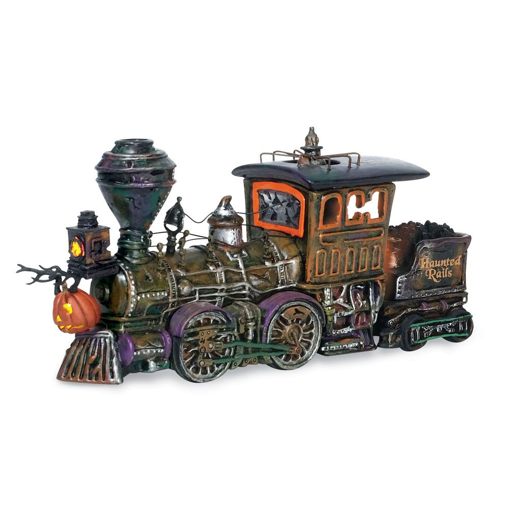 Department 56 Snow Village Halloween Haunted Rails Engine 800001 Retired